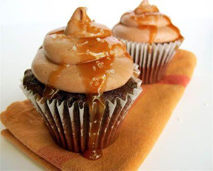 Chocolate & Salted Caramel Cupcakes
