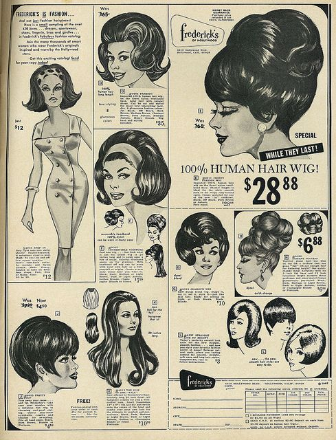 1967 Beauty Ad, Frederick's of Hollywood Human Hair Wigs | Flickr - Photo Sharing!