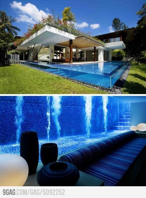 582 best images about pools albercas on pinterest for Basement swimming pool ideas