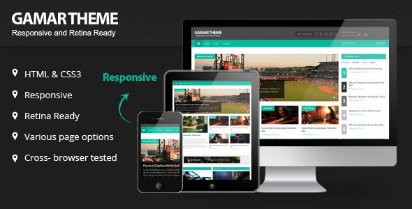 ThemeForest – Gammar Responsive Magazine Website HTML5 Template