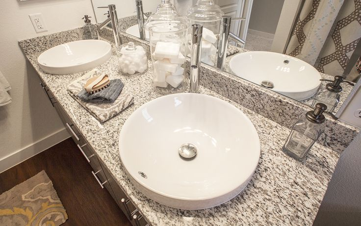 Huge bowl-style sinks in our exquisite bathrooms. Elysian at Southern ...