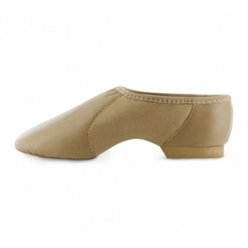 Bloch Neoflex Slip on Girls Jazz Shoes  Bloch's specially developed soft, strong Tan leather jazz shoe with neo-prene mid section to hug the arch. The Slip-On version of S0493L.  Width : X  Colours : Black & Tan  Price: 28.80€