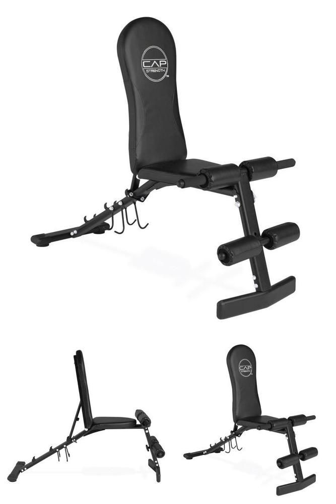 Bench Press Abs Part - 16: Adjustable Folding Sit Up Incline Decline Abs Bench Flat Weight Press Gym  Black #CAPBarbell