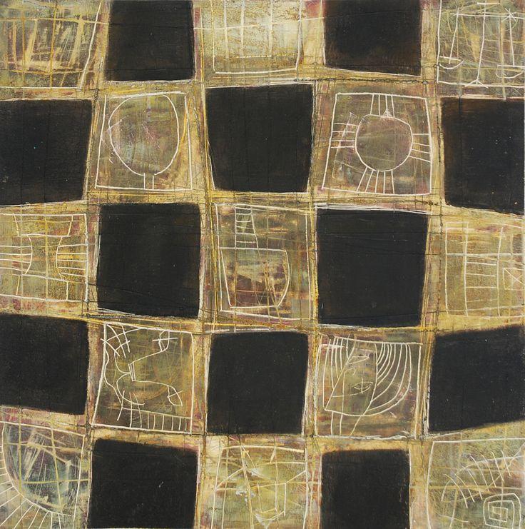 Textile series 2 de 2 acrylic on clayboard 35 x 35 cm 2008