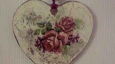 Панно ''Винтажное сердце''