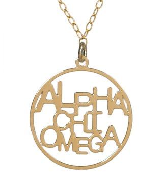 Cute Alpha Chi Omega necklace