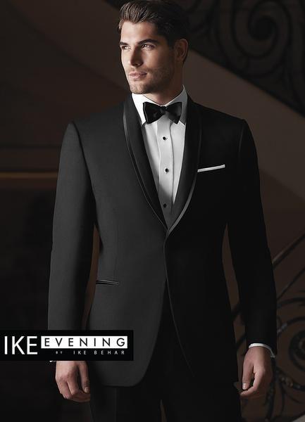 Black Shawl Lapel Waverly Tuxedo by Ike Behar®