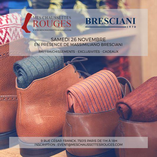 Événement PG : Bresciani chez Mes Chaussettes Rouges via @parisiangent