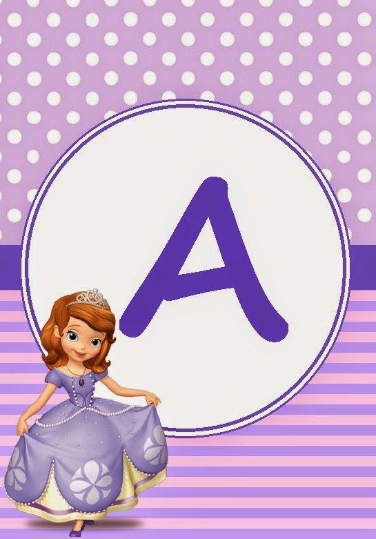 BulutsMom: Prense Sofia Temalı Doğum Günü Banner Harfleri | Doğum ...