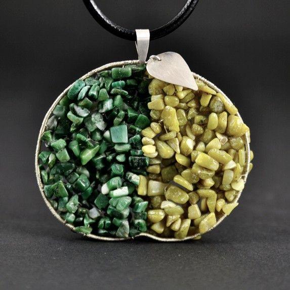 APPLE | Monika Kraczek  Big pendant. Unique! 100%handmade.  www.monikakraczek.com