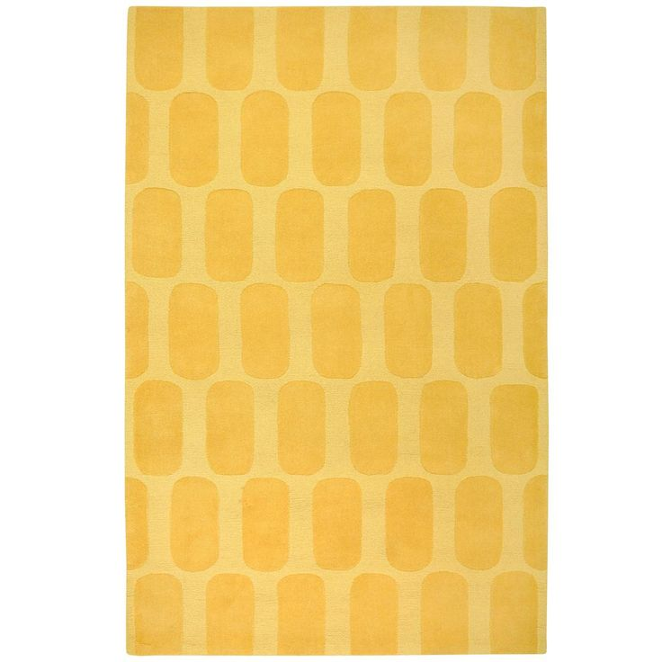 Modern Colors Plush Rug Yellow Or Teal Home Sweet Home