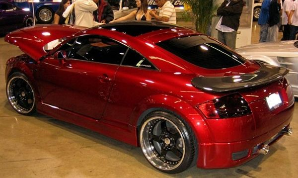 Trucks Street Race Cars That Look Like | Street Racing Car Modified: Custom Audi TT 8 Tuning Red Metallic With ...