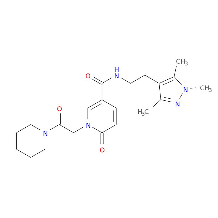 6-OXO-1-(2-OXO-2-PIPERIDIN-1-YL-ETHYL)-1,6-DIHYDRO-PYRIDINE-3-CARBOXYLIC ACID [2-(1,3,5-TRIMETHYL-1H-PYRAZOL-4-YL)-ETHYL]-AMIDE is now  available at ACC Corporation