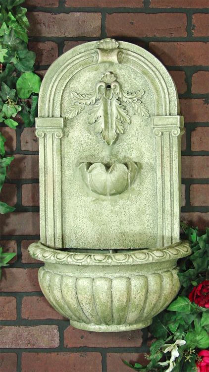 outdoor classics florence outdoor wall fountain
