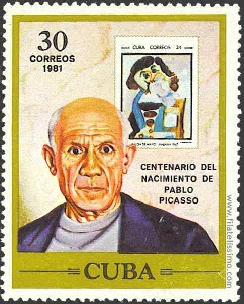 1981-Cuba- Pablo Picasso Stamp 25/10