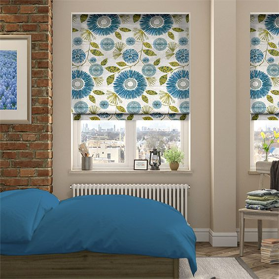 Melody Teal Roman Blind from £25.75