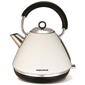 Morphy Richards 102005 Accents Pyramid Kettle, 1.5 L - White