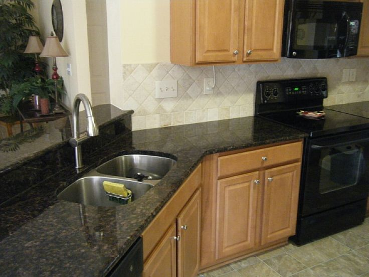 cheap granite countertop cost corner black color design