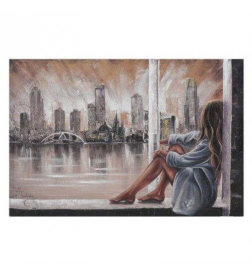CANVAS OIL PAINTING 'WOMAN AT WINDOW' 60X2_5X90