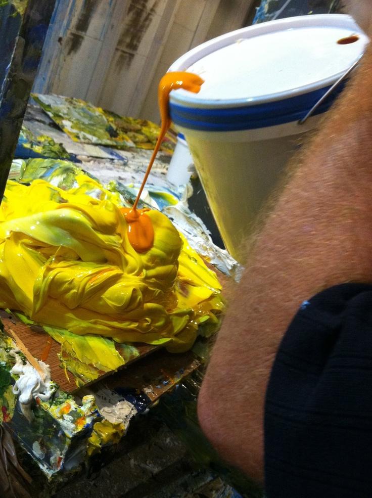 Artist, Justin Gaffrey-Justin Gaffrey Studio, Blue Mountain Beach, FL -2012 Photo By: Christy Milliken