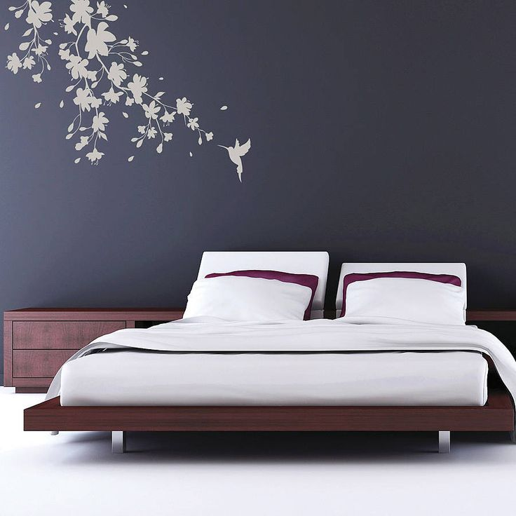 a unique sakura blossom wall sticker available in four sizes complete with floating blossom petals - Wall Sticker Design Ideas