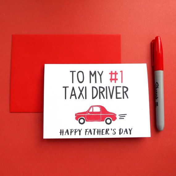 Funny Father's Day Card, Dad Taxi Driver Card, Father's Day Card Funny, Funny Dad Card, Funny Card for Dad, Fathers Day Card