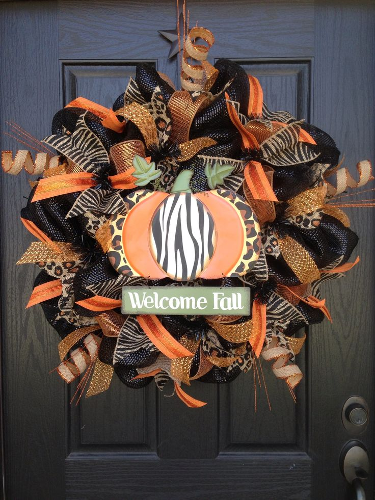 Fall safari--OMG this is adorable and I love the pumpkin in the middle!! Funky & glam!!!  :-)