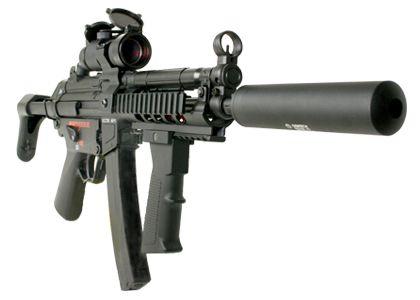 Mp5 submachine gun-- not your father's machine gun