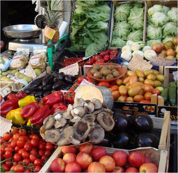 Fresh food produce from Basilicata