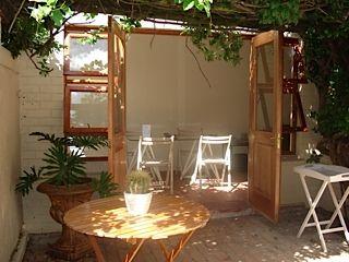 Cottage courtyard.