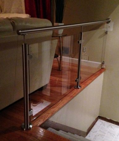 Stainless Steel Stair #Railing With Glass System.