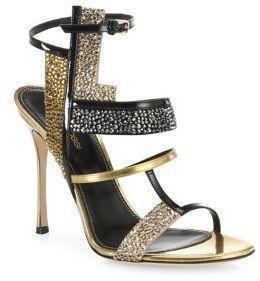 fb4f8f729a53 Sergio Rossi Tamara Swarovski Crystal   Leather Sandals  sergiorossi2016