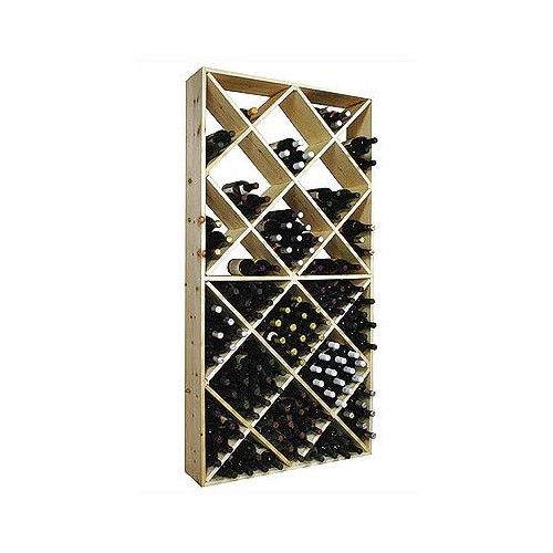 Thinking of converting cheap wine racks into interesting bookshelves -- Wine Cellar Innovations Country Pine 208 Bottle Wine Rack