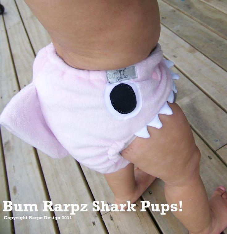 Shark Pups pocket diapers
