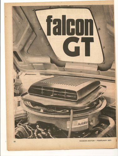 Original Vintage 1971 Ford Falcon GT Australian 3 Page Feature | eBay