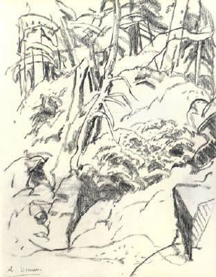 Artist: Arthur Lismer, Title: LE BAIE GEORGIENNE - 13.75 x 10.75 pencil (1935)