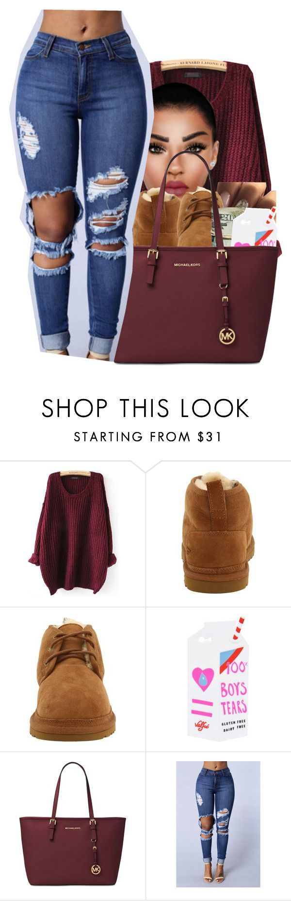 #66: Bald Baddies by chilly-gvbx on Polyvore featuring UGG Australia, Valfré and Michael Kors