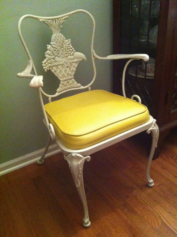 Woodard hollywood regency 6 chairs ebay asking 2700 for Outdoor furniture yellow