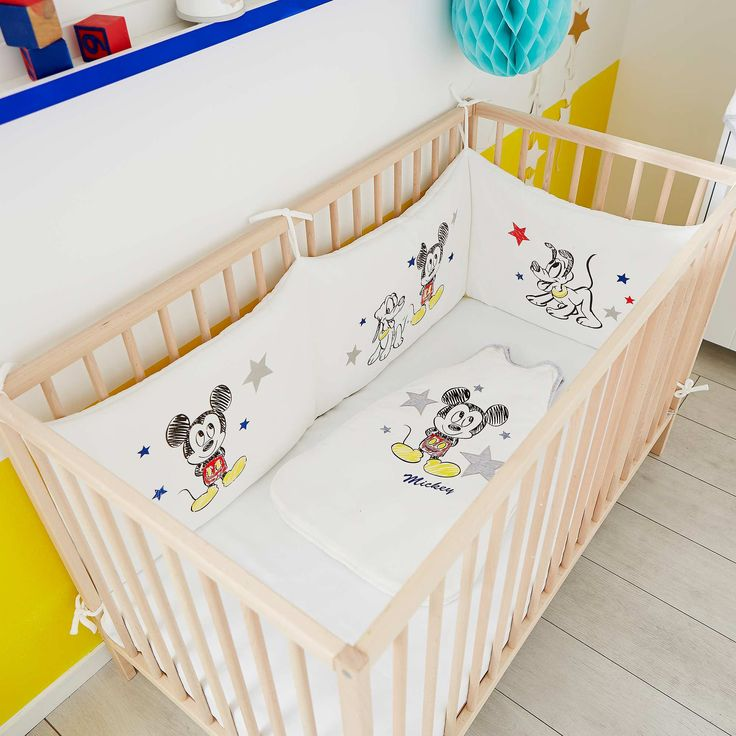 Tour de lit velours 'Mickey' Bébé garçon - Kiabi - 30,00€