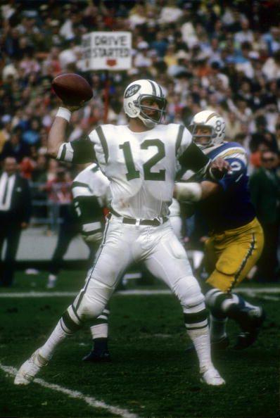 Quarterback Joe Namath of the New York Jets
