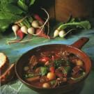 Try the Beef Stew with Turnips (Beef Bourguignonne) Recipe on williams-sonoma.com/ (omit flour for paleo)