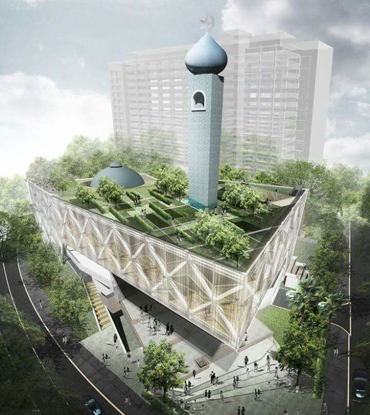 Modern design for mosque Islamic Architecture  To Be