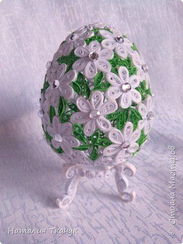 Поделка изделие Пасха Квиллинг Сувенирные пасхальные яйца Бумажные полосы фото 18
