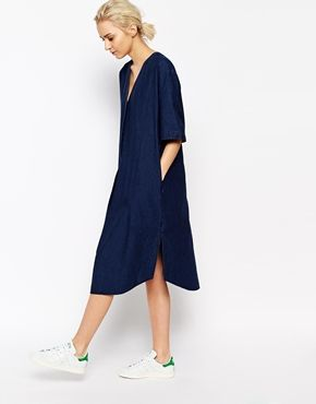 Weekday Denim Shirt Dress by asos
