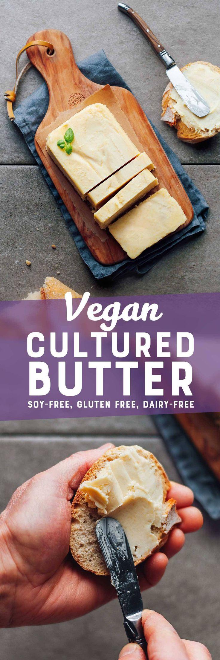 Vegan Cultured Butter #vegan #homemade #plantbased