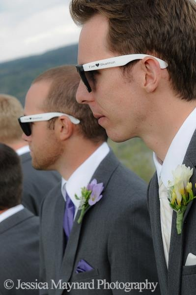 frat glasses wedding favors