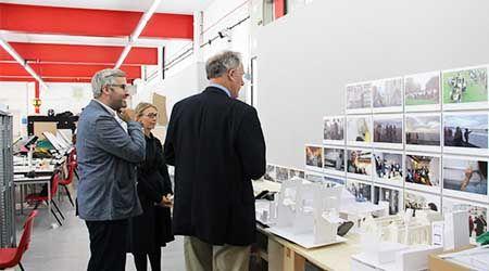 MP Julian Brazier visits UCA Canterbury
