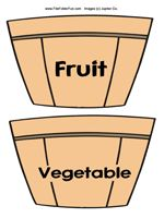 Fruit or Vegetable File Folder Game (health lesson) as well as the whole food group game