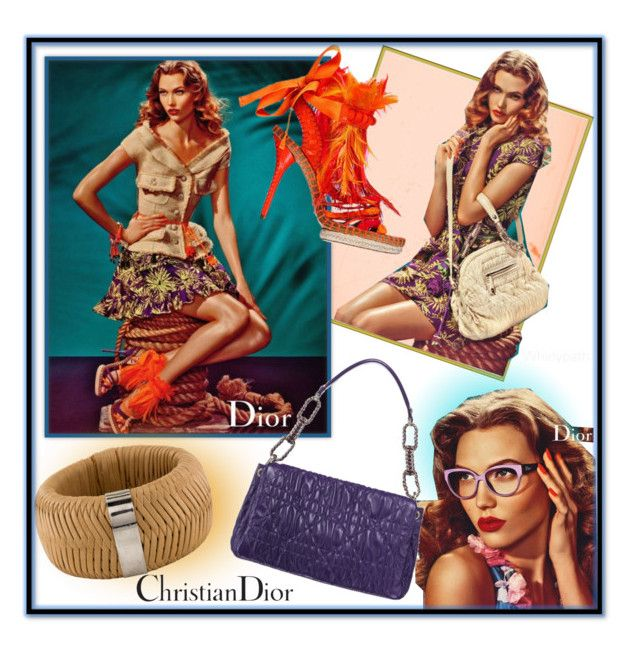 Vintage Christian Dior! by whirlypath on Polyvore featuring Christian Dior and vintage