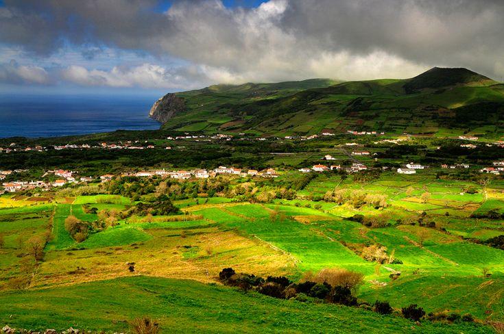 Paisagem da ilha Graciosa, Graciosa Island, Azores, Portugal